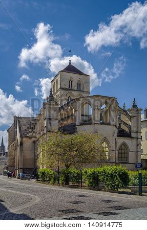 The Church of St. Savior of Caen was built in the eleventh century Caen France
