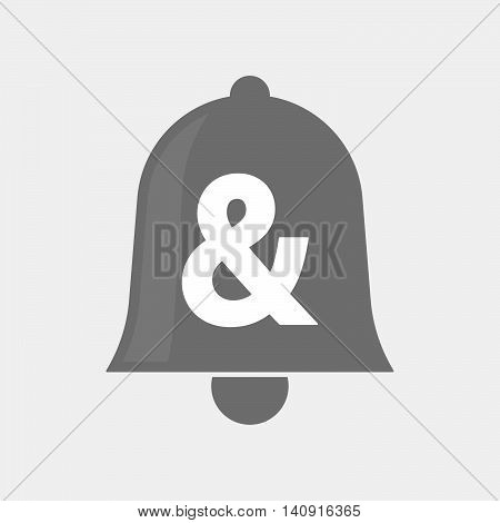 Isolated Bell Icon With An Ampersand