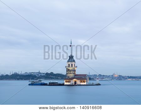 Maiden's Tower on the Istanbul bosphorus, Turkey
