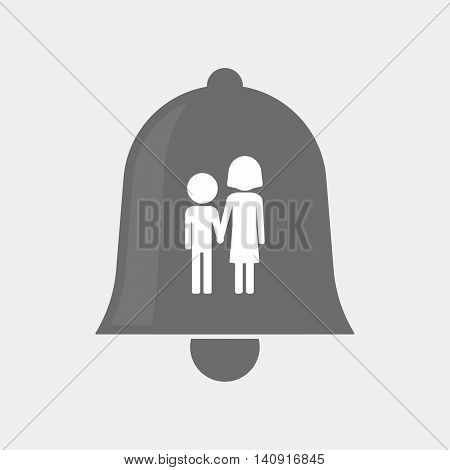 Isolated Bell Icon With A Childhood Pictogram