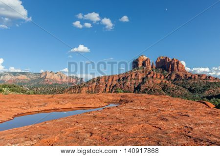 the scenic landscape of cathedral rock near Sedona Arizona