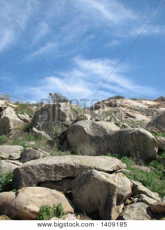 Blue Sky And Rocks