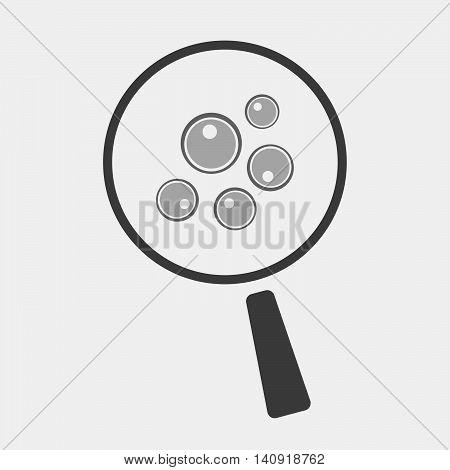 Isolated Magnifier Icon With Oocytes
