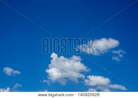 Blu sky texture with cloudy om sunny day.