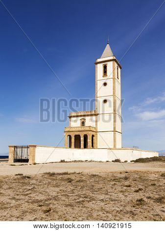 Abandoned Church at Almadraba de Monteleva, Cabo de Gata near Almeria, Spain