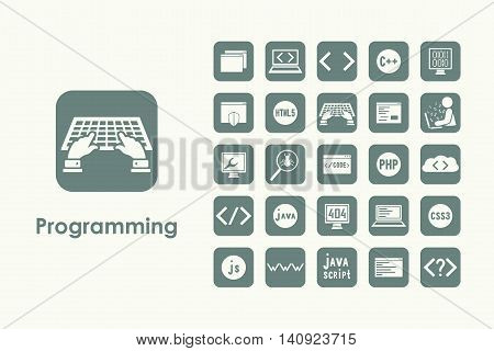 It is a set of programming simple web icons