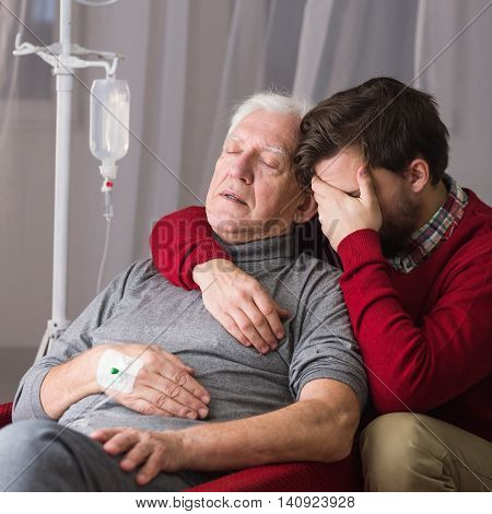 Son Suffering After Father's Death