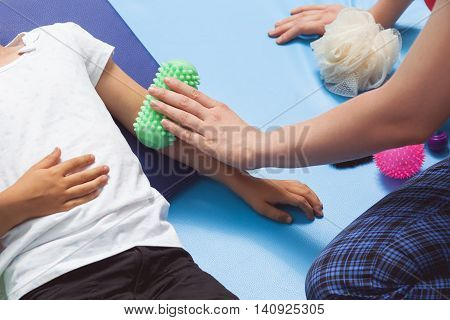 Massage Roll In Sensory Therapy