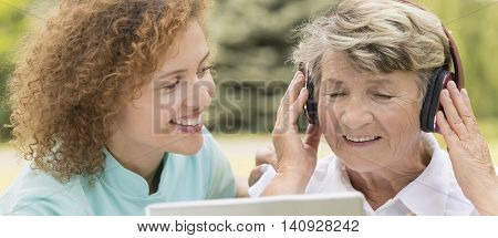 Grandmother Listen To Music