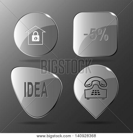 4 images: bank, labels