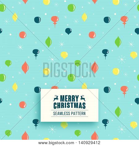 Christmas seamless pattern with Christmas toys. Christmas background