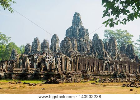 Bayon.the Temple Complex Of Angkor.