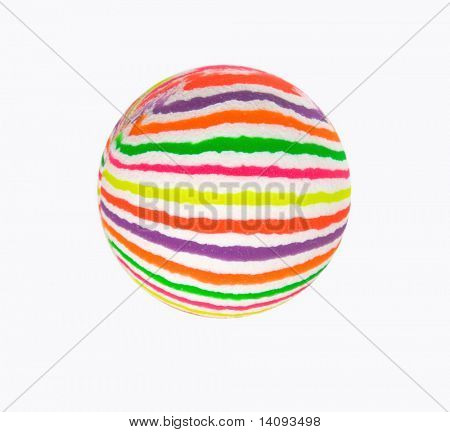Multicolored ball isolated