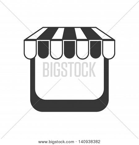 awning market store frame icon. Isolated and flat illustration. Vector graphic