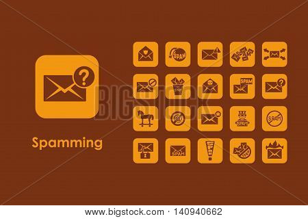 It is a set of spamming simple web icons