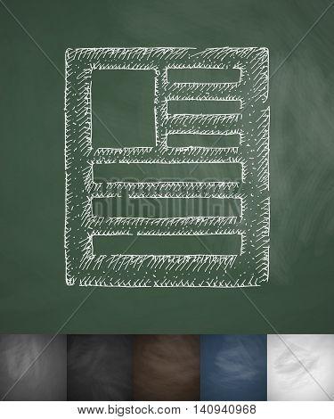 description icon. Hand drawn vector illustration. Chalkboard Design