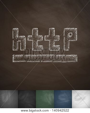http icon. Hand drawn vector illustration. Chalkboard Design