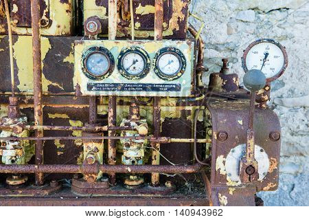 An Old Outdated Diesel Engine