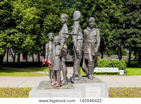 ST. PETERSBURG, RUSSIA - AUGUST 02, 2016: Photo of Monument