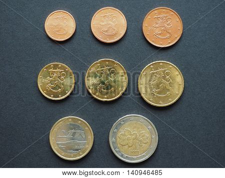 Euro (EUR) coins from Finland - entire range of coins