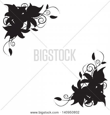 Illustration decoration in the form of lily corner ornament