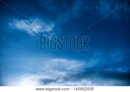 Blue Night Sky With Many Stars