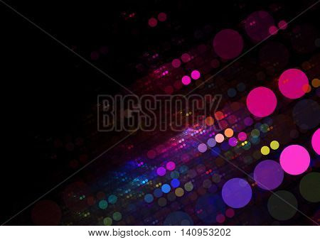 Dark Textured Multi-Colored Circles Background Texture