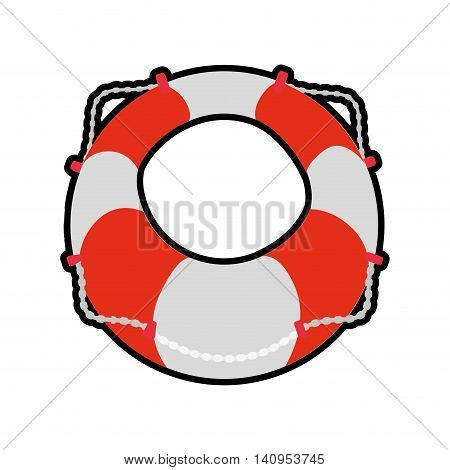 Float insurance accident protection icon. Isolated and flat illustration. Vector graphic