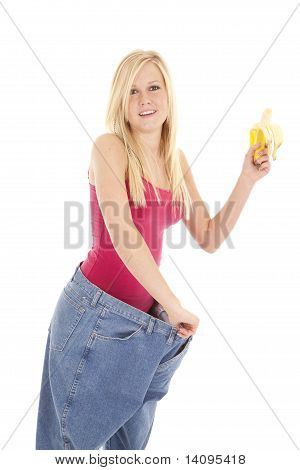 Big Pants Holding Banana