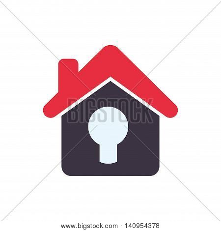 padlock house home insurance accident protection icon. Isolated and flat illustration. Vector graphic