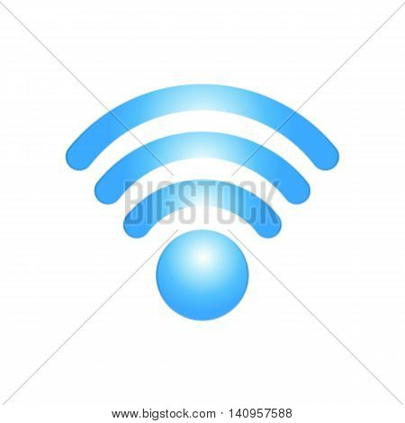 blue iconl of wi fi connection to the internet vector illustration