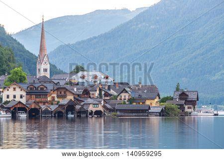 Austria Hallstatt, Classic view  of Hallstat Village
