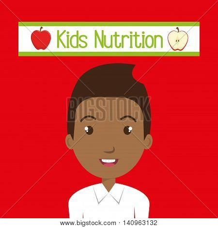 kids food nutrition healthy graphic vector illustration