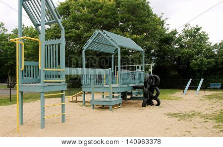 A local old-school playground built on sand