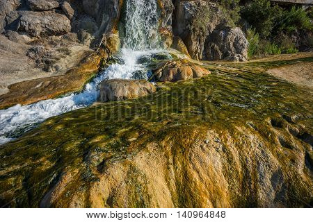 Image of picturesque thermal springs in Thermopiles Greece