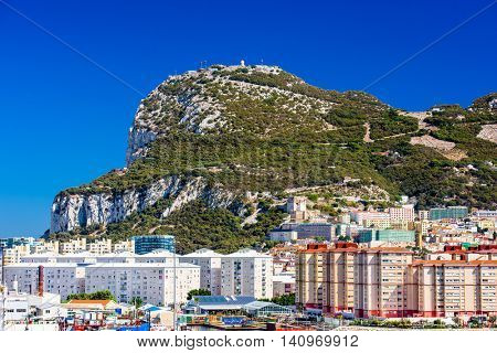 The Rock of Gibraltar British Overseas Territory.