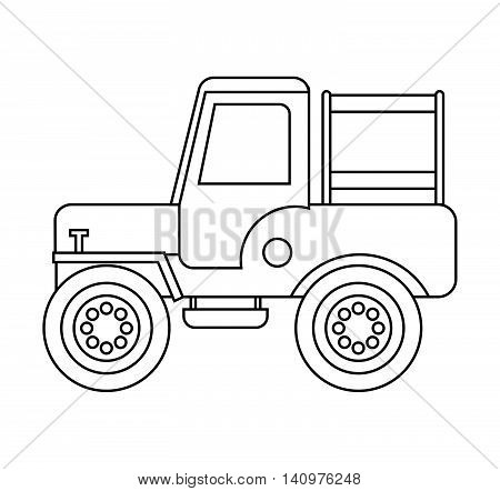 jeep colombian coffee car vector illustration design