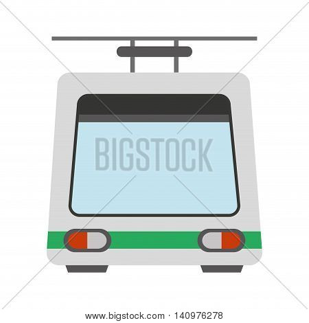 cableway funicular transport icon vector illustration design