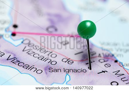 San Ignacio pinned on a map of Mexico