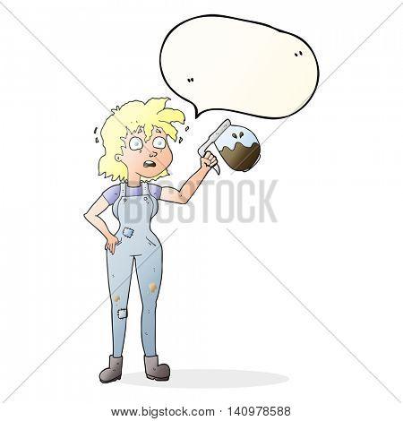 too much coffee freehand drawn speech bubble cartoon