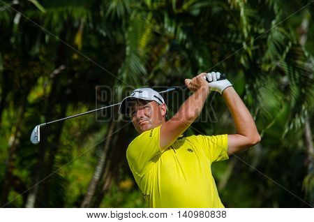 CHONBURI - JULY 31 : Sam Brazel of Australia in King's Cup 2016 at Phoenix Gold Golf & Country Club Pattaya on July 31 2016 in Chonburi Thailand.
