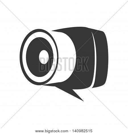 bubble camera technology gadget icon. Isolated and flat illustration. Vector graphic