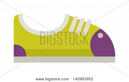 Running sneakers fashion sport casual shoe flat vector.