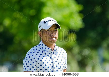 CHONBURI - JULY 31 : Chan Shih-chang of Chinese Taipei winner in King's Cup 2016 at Phoenix Gold Golf & Country Club Pattaya on July 31 2016 in Chonburi Thailand.