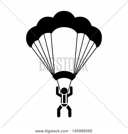 skydiving extreme sport icon vector illustration design