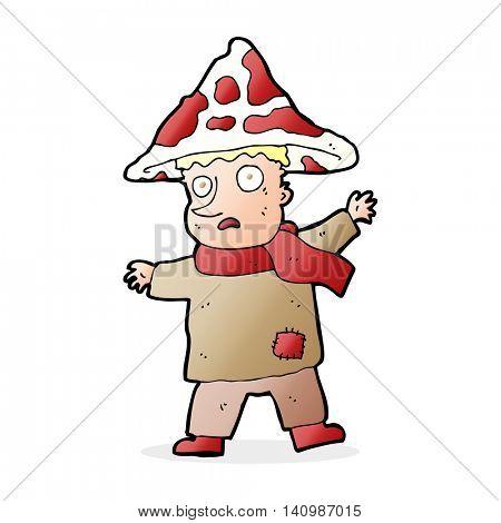 cartoon magical mushroom man