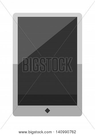 Tablet computer smartphone isolated screen isolated digital technology vector icon. Technology tablet smartphone computer and business tablet computer smartphone communication.