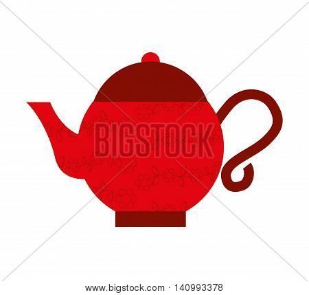teapot culture japanese icon vector illustration icon