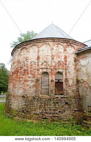 Abandoned building of Feodorovsky gorodok in Tsarskoe Selo suburb of St.Petersburg Russia.