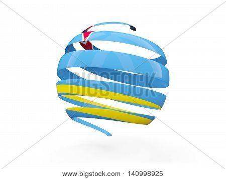 Flag Of Aruba, Round Icon